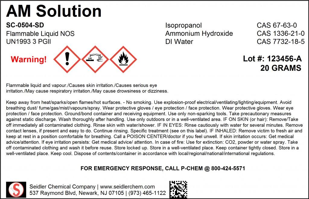 GHS BT Label